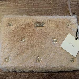 kate spade Bags - Kate Spade Blush Fur Clutch